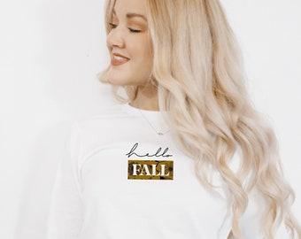 Fall shirts, hello fall, Fall t shirt, Fall lover t shirt, thanksgiving t shirt, halloween t shirt, autumn t shirt, fall