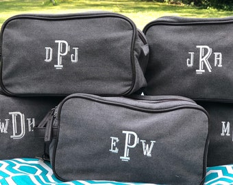 Monogrammed Charcoal Dopp Kit - boy graduation - Father's Day - travel bag