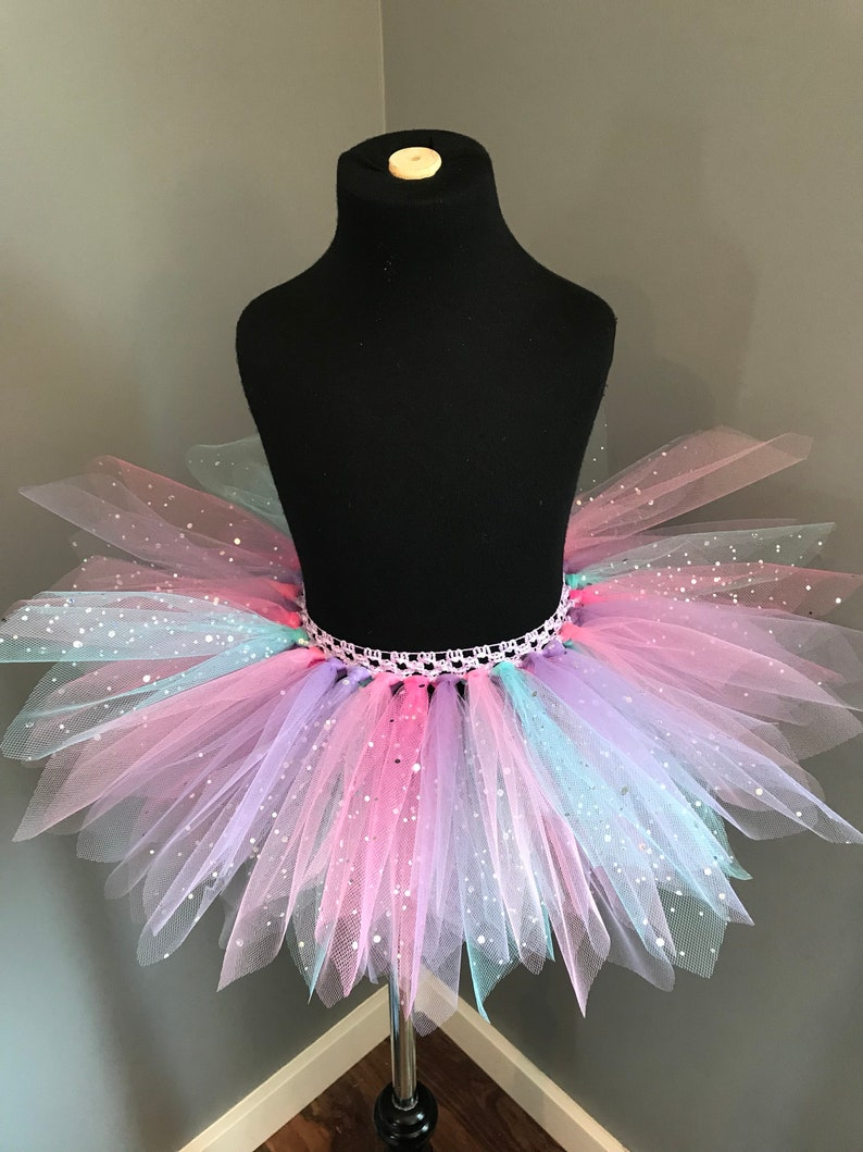 Unicorn Rainbow Pixie Cut Tutu With Glitter Etsy