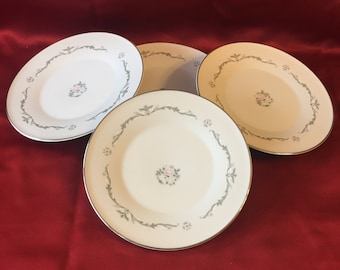 Vintage Signature Collection Set of 4 Dessert/Bread Plate Select Fine China Petite Bouquet Made in Japan