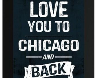 Love You To Chicago Bears NFL Custom Frame Sign