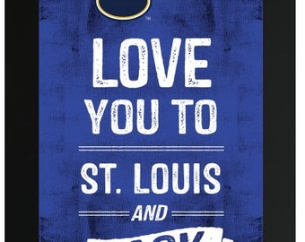 Love You To St. Louis Blues NHL Custom Frame Sign