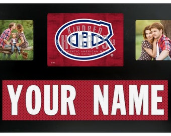 Montreal Canadiens NHL Jersey Custom Picture Frame