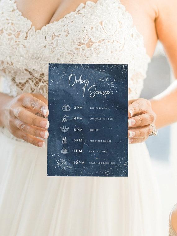 Thin Program Printable Wedding Slim Program INSTANT DOWNLOAD Editable pdf Templett Events DIY Wedding Ceremony Greenery Bramble