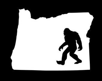 Oregon Bigfoot Decal, Oregon Decal, Bigfoot Decal, PNW Decal, Bigfoot Sticker, Oregon Sticker, PNW Sticker,