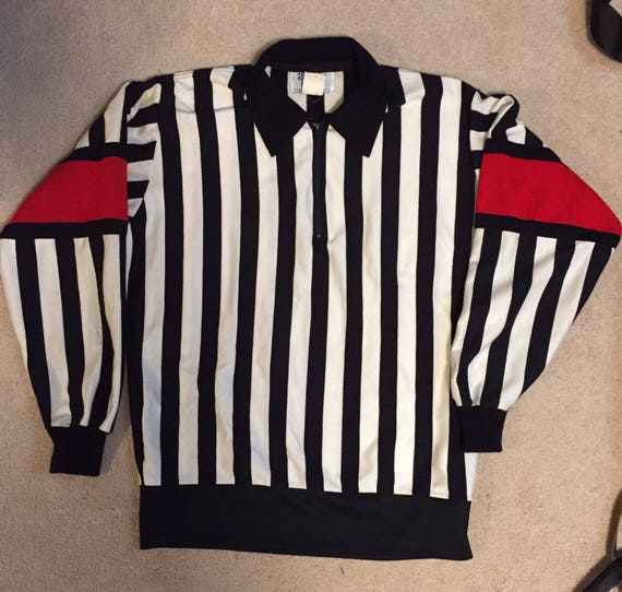 Vintage Bruce Hood Hockey Referee jersey FzmF4QcO
