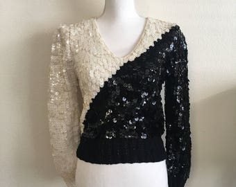Ying yang sequin sweater