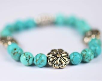 Blue Howlite Bracelet ~ Anxiety