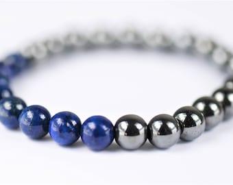 Lapis Lazuli & Hematite Bracelet ~ Inner Peace