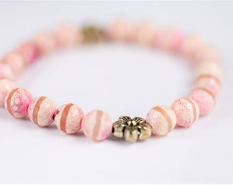 Pink Agate Bracelet ~ Balance