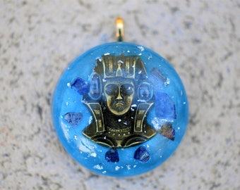 Pharoah pendant, Pharoah jewelry, ancient egypt jewelry, Egyptian jewelry, Pharoah Necklace, Egyptian Pharoah, men's necklace, Lapis Lazuli
