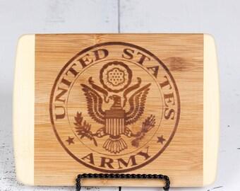 Bamboo Bar Cutting Board - Army, Marine or Navy