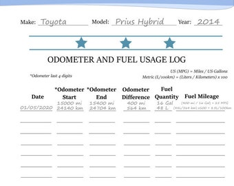 fuel tracker etsy