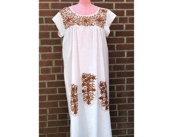 1970s Embroidered Day Dress
