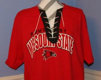 Southeast Missouri State Lace Up T-Shirt