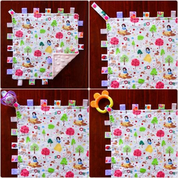 Elephant Feathers Kimmidoll Minnie Mouse Owls Paw Patrol Sheep Unicorn Taggie Taggy Tag Security Blanket Toy Comforter dummy clip holder