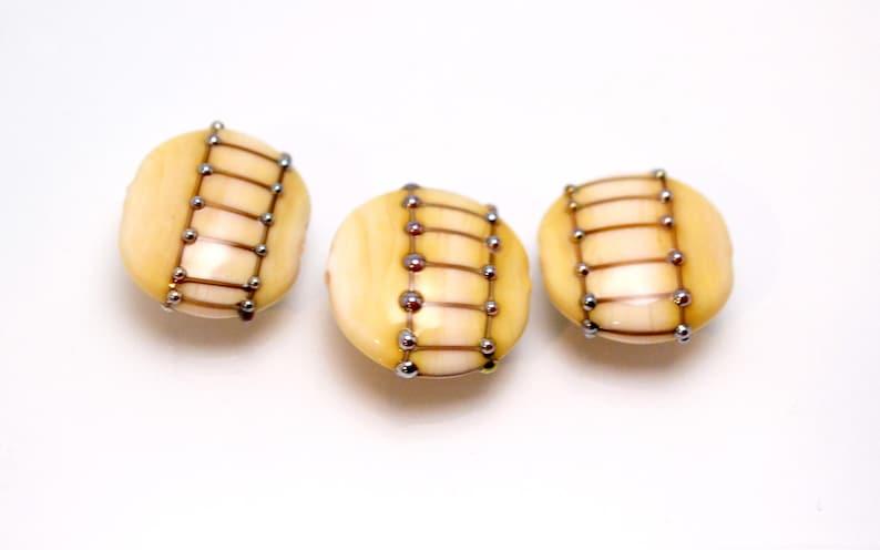 jewelry making set gold bead bracelet yellow glass jewelry round yellow bead colorful glass jewelry glass decor artisan lampwork bead