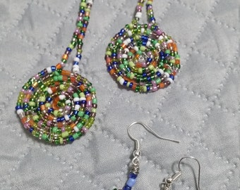 Beaded  short  earrings