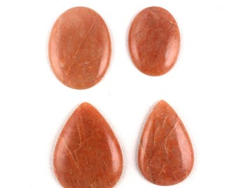 oval shape 25x16x5mm 11cts Apple coral cabochon A1551