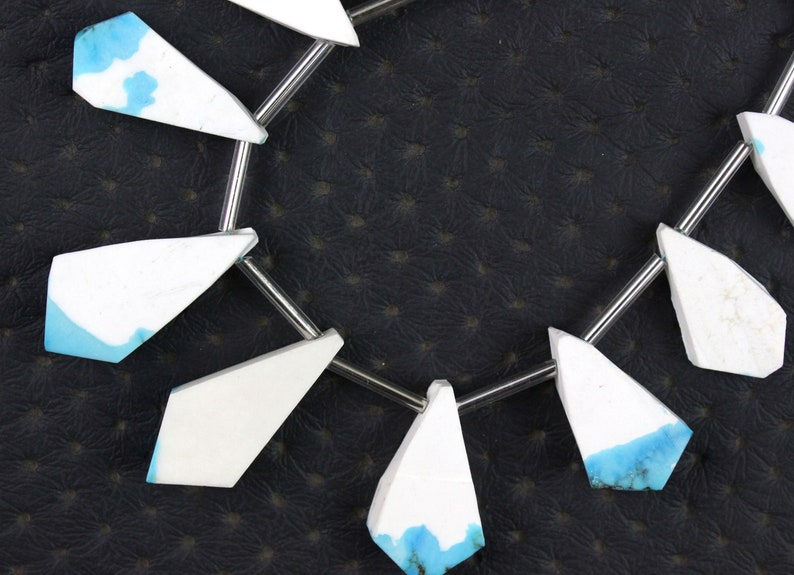 1 Strand Howlite Gemstone,12 Pcs Uneven Fancy Shape Rough,Size 10x15-13x24 MM Raw Beads,Making Howlite Semi Precious Stone Jewelry Wholesale