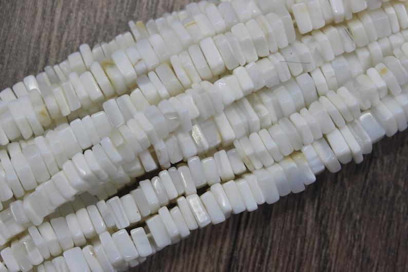Making Opal Jewelry Opal Heishi Beads,Size 5-6 MM Opal Beads Beautiful 16Long Strand Natural White Opal Gemstone Smooth Square Beads
