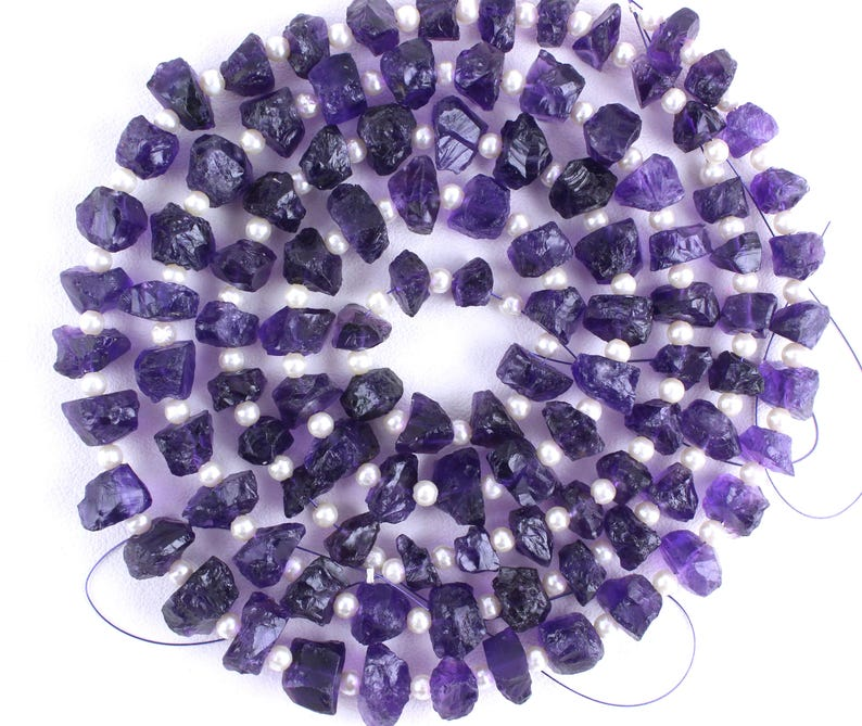 1 Strand Natural Blue Amethyst,35 Piece,Rough Shape Amethyst,7-11 mm,Amethyst,Natural Amethyst,Amethyst,Rough Stone Amethyst,Wholesale Price