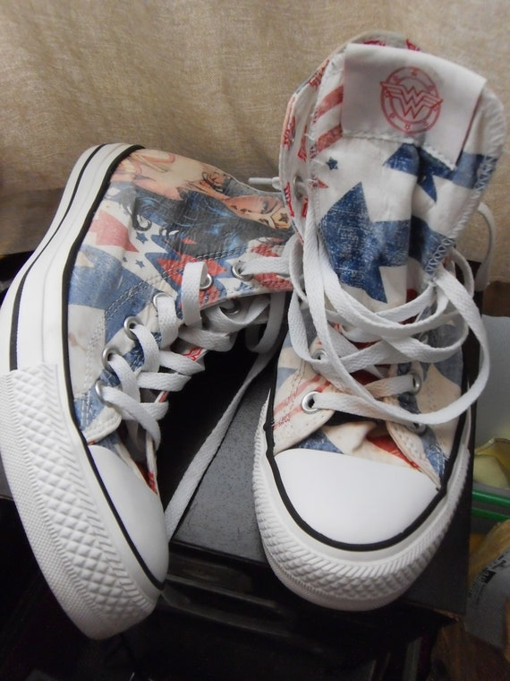6c2ed4fa9b1717 converse wonder woman high top trainers 6 S