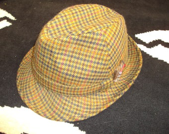 vintage christys fedora trilby wool hat with feather