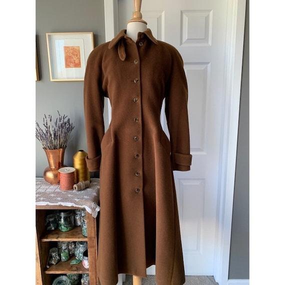 Vintage Lolita Lempicka wool maxi swing coat 1575 - image 2