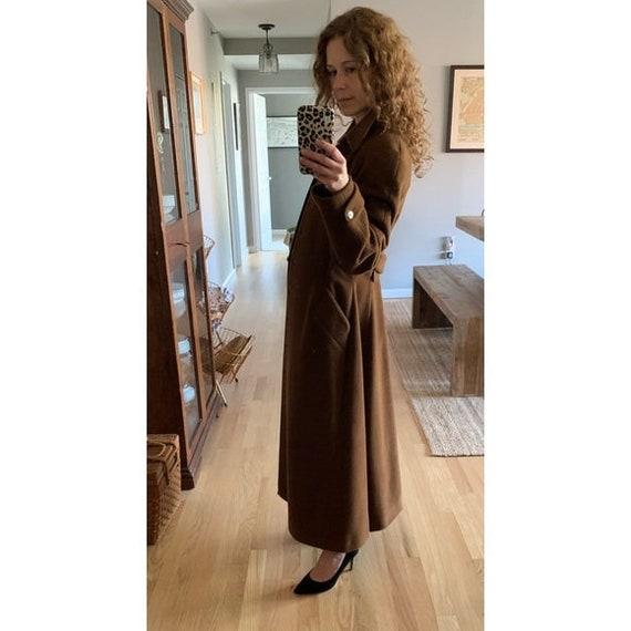 Vintage Lolita Lempicka wool maxi swing coat 1575 - image 3