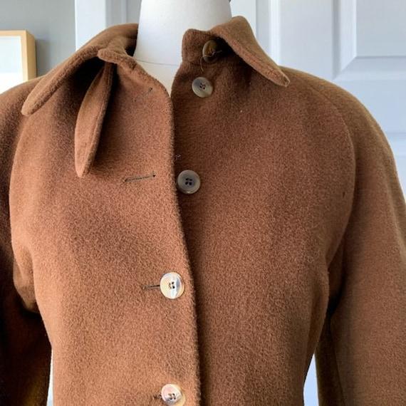 Vintage Lolita Lempicka wool maxi swing coat 1575 - image 8