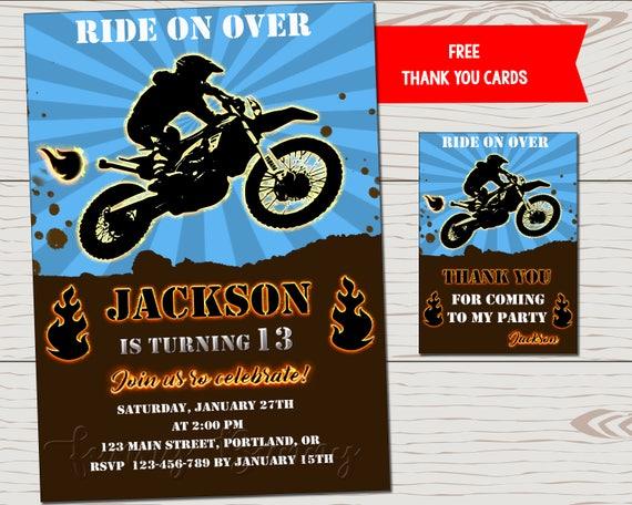 Dirt Bike Birthday Invitation Dirtbike For Boy
