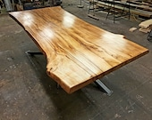 Industrial Style Live Edge Dining Table Waney Edge Table Handmade To Order