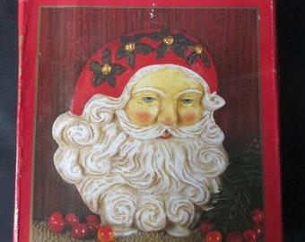 Vintage Old World Santa Door Stop Cast Iron Claus Christmas Decor