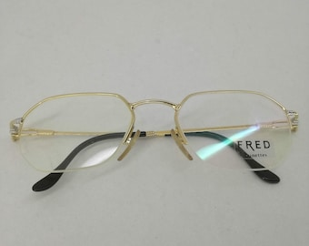 a52020ac1d08b9 Fred Lunettes Paris France Shetland Eyewear Old Stock Unique Gold Platinum  Collector s Item Original Vintage