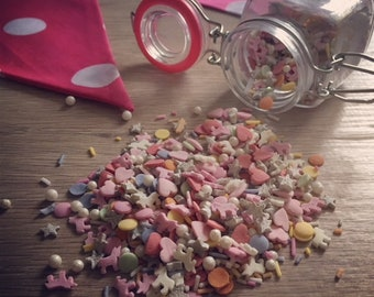 Unicorn Sprinkle Mix | Cake and Cookie Decorating | Cake Sprinkles | Baking Supplies | 60g