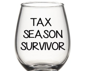 Accountant Wine Glass Accountant birthday Christmas Accountant Retirement Gift Balance, Wine Humor