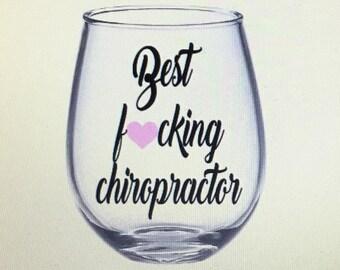 Chiropractor wine glass. Chiropractor gift. Gift for chiropractor. Chiropractor.