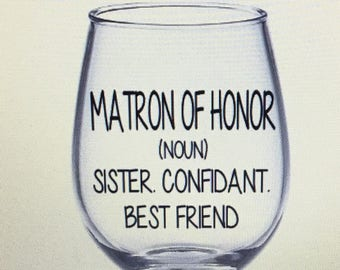 Matron Of Honor Gift Etsy