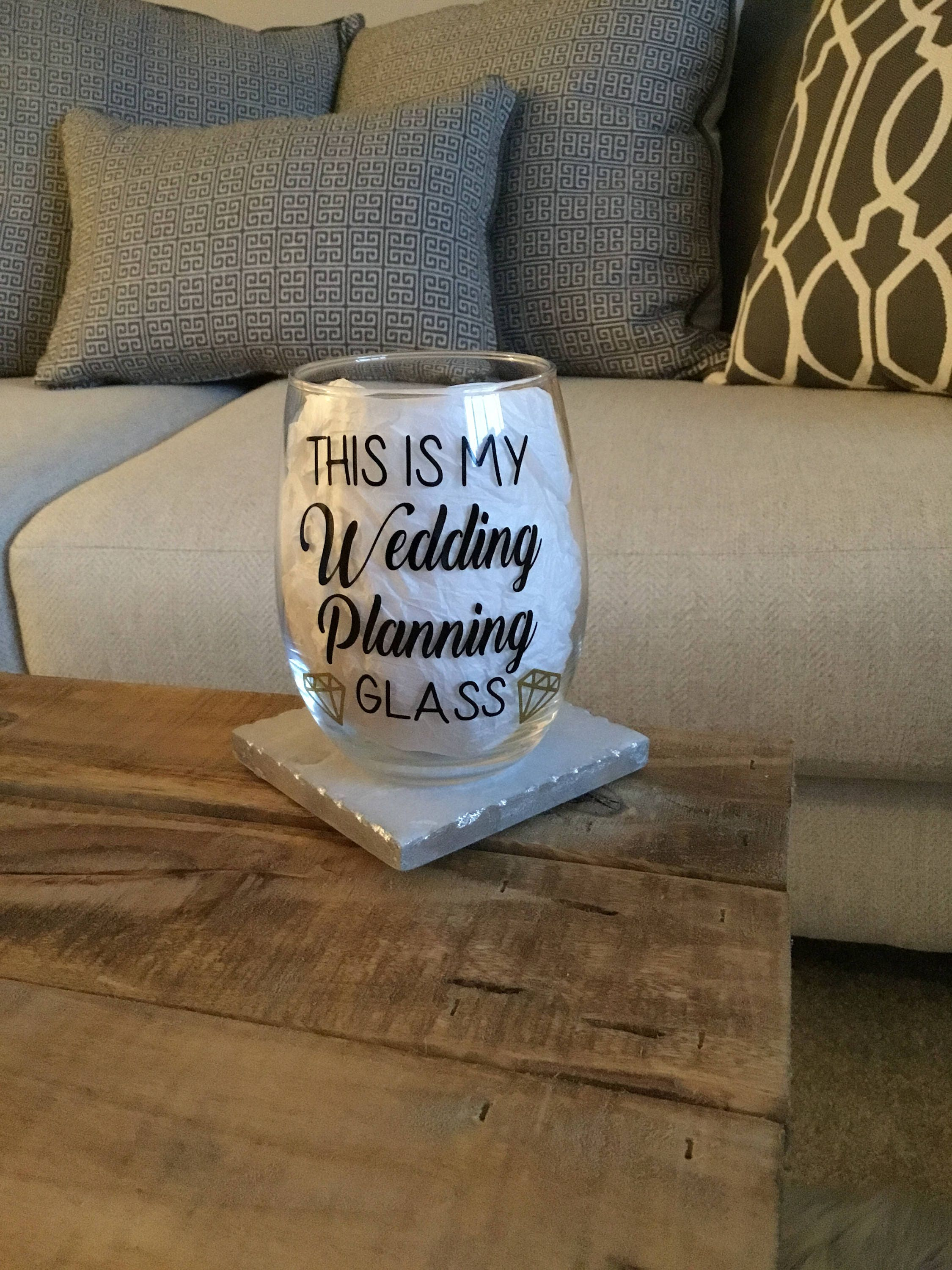 This Is My Wedding Planning Glass Wedding Planning Wine Etsy