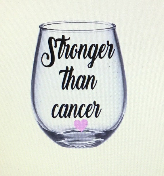 Breast Cancer wine glass Breast cancer gift