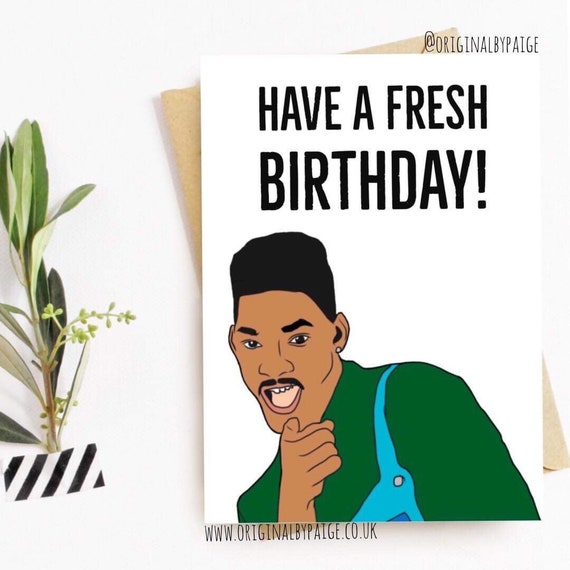 Fresh Prince Birthday Card Etsy