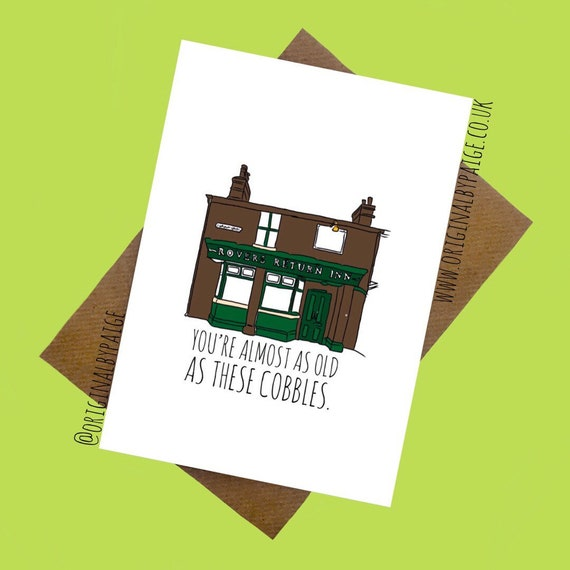 Coronation Street Birthday Card Etsy
