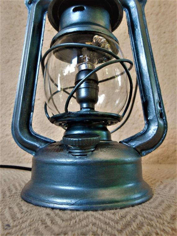 LÁMPARA rústico Viejo Quinqué de de Lámpara industrial Farolillo mesa Farol Europeo ANTIGUA Farol Lámpara aceite iwuOTlPkXZ