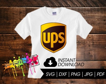 UPS United Parcel Service Logo SVG- ups SVG, cuttable Cricut, Silhouette Cameo, Cut Files