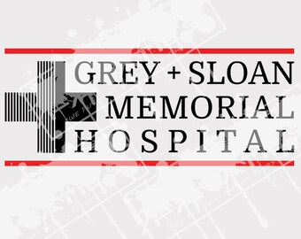 Grey Sloan Memorial Hospital svg, Grey's Anatomy, svg file for cricut, shirt, vinyl cut file, Silhouette, png, dxf, pdf, Instant download