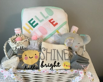 Welcome baby basket corporate baby gift corporate gift newborn baby girl gift basket baby girl shower gift baby shower gift