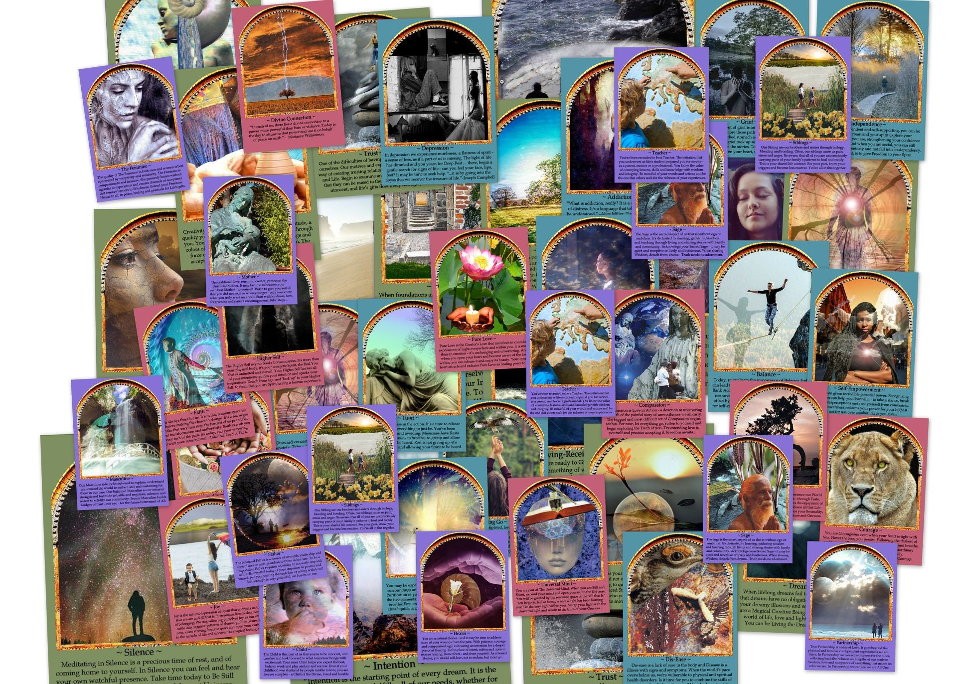 Seeking Within Oracle Cards for Divination and Inspiration and Motivation