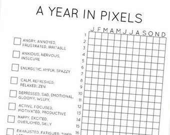 graphic relating to Year in Pixels Printable titled Yr inside pixels Etsy