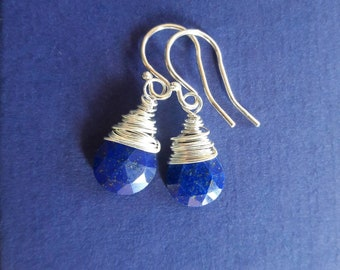 Earrings Lapis lazuli and sterling silver